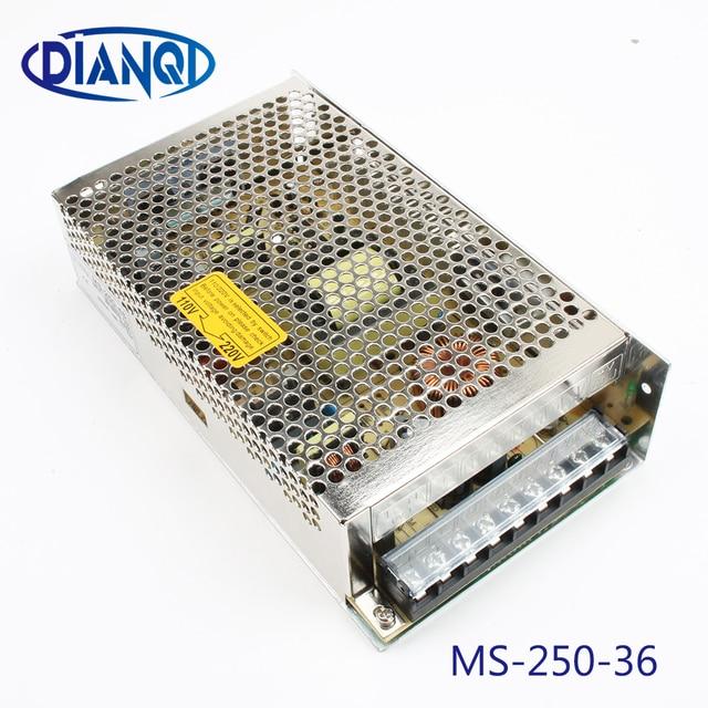 250 W 36 V 6.9A alimentation à découpage à sortie unique pour LED bande de lumière AC à DC 250 w 36 v mini unité de taille ms-250-36