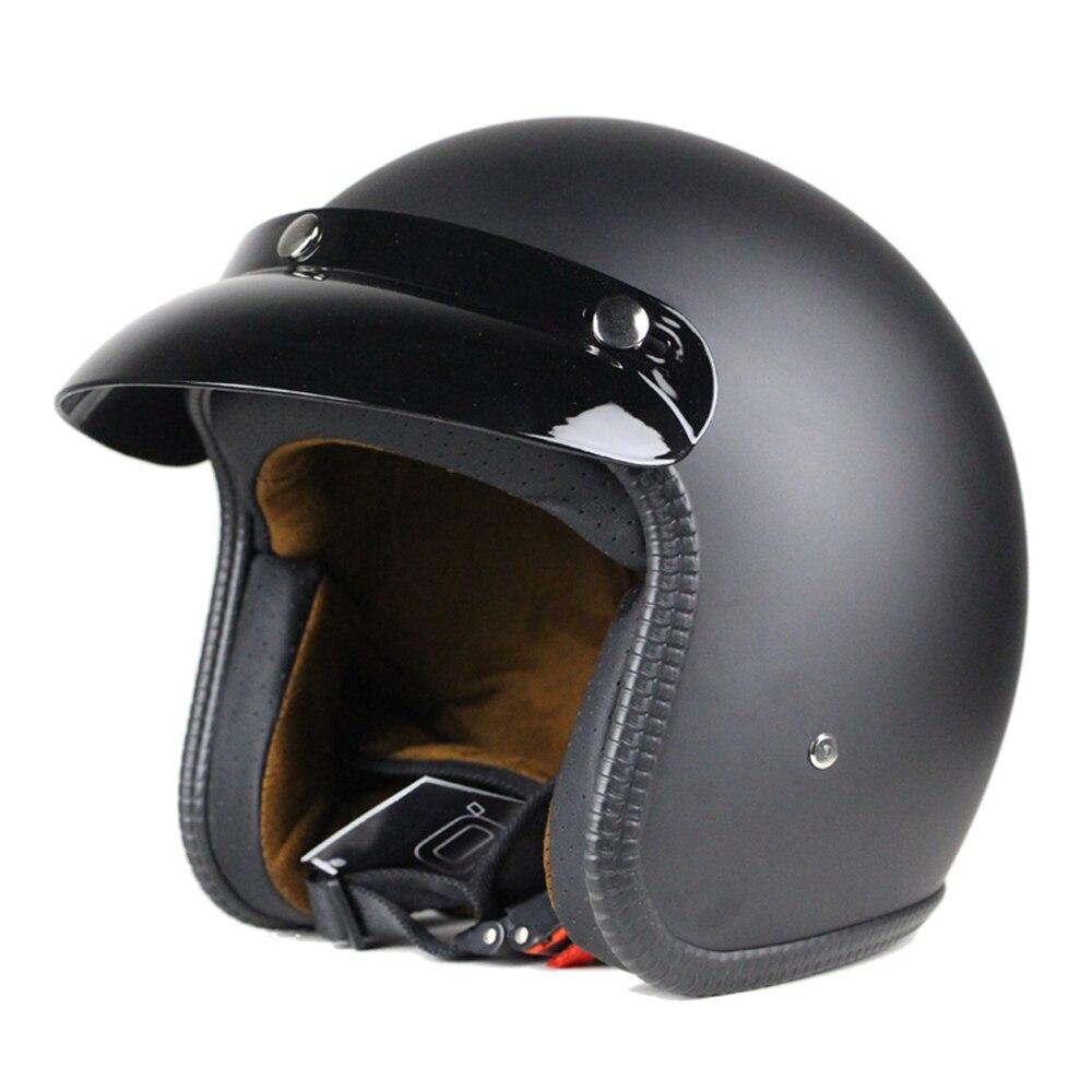 Мотоциклетный шлем кожаный винтажный кафе-гонщик Чоппер Ретро Краш шлем мотоциклетный козырек для мотоцикла Мото шлем для мотоцикла