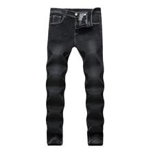 Black Slim Fit Jeans Men Design New 2018 Mens Korean Fashion Denim Pants Garment Washed Long Jeans 28-42 Hot Sale недорго, оригинальная цена