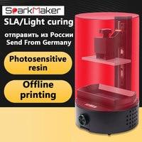 Newest SparkMaker 1 3d printer supplies Mini Desktop sla/ lcd /dlp 3d Uv Resin 3D printer Drucker
