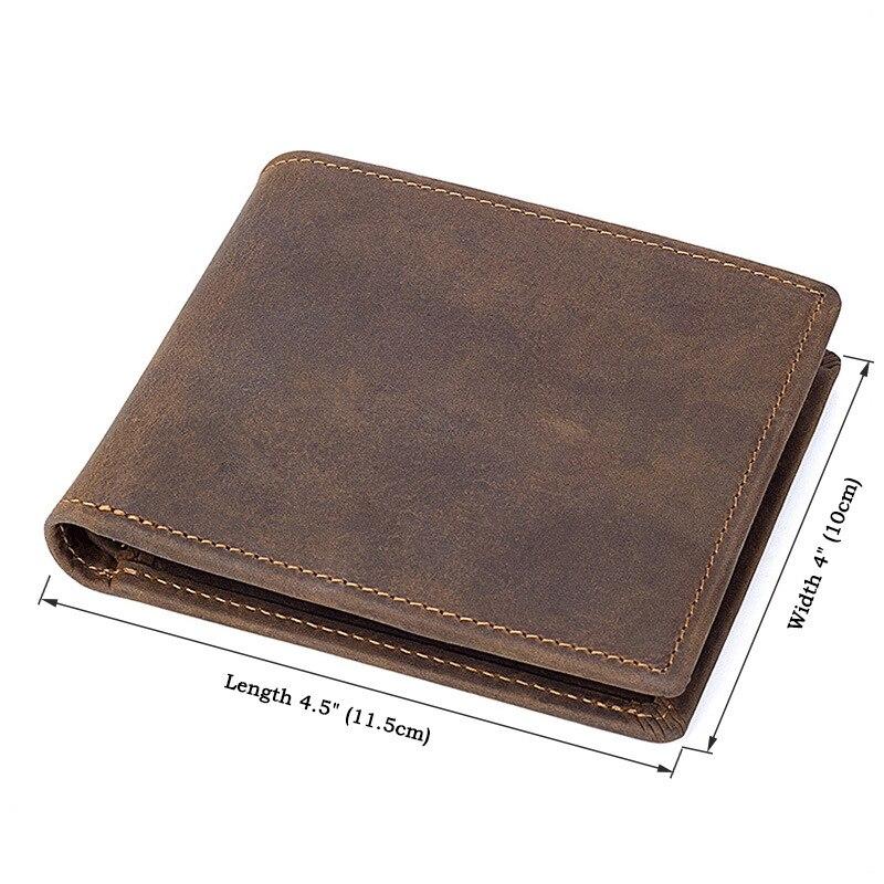 Véritable Cuir portefeuille décontracté Hommes Court Porte-Monnaie Standard Portefeuilles Porte-Cartes