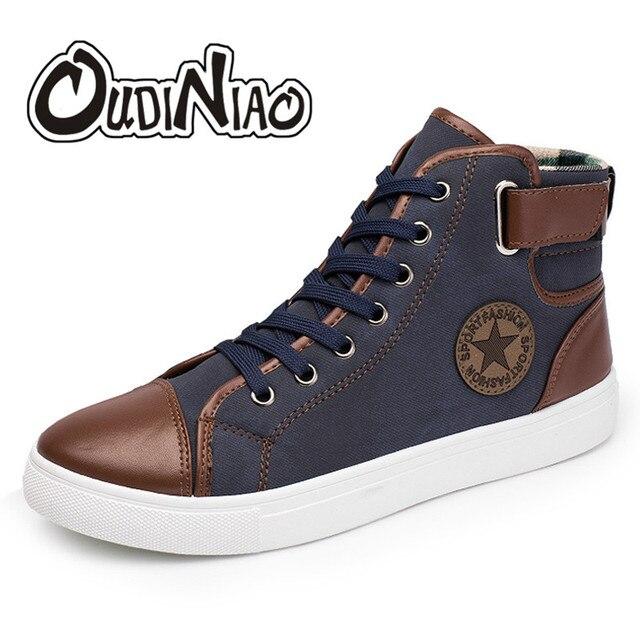 OUDINIAO أحذية رجالي أحذية رياضية غير رسمية مصمم حذاء رجالي عالية الجودة عادية 2019 حجم كبير حذاء رجالي كاجوال موضة الخريف نجمة