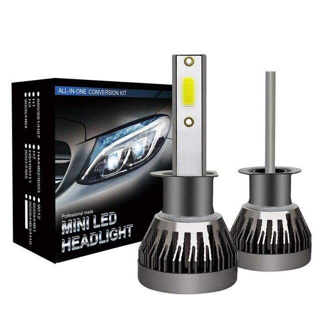 2PCs Car headlight Lamp Mini H7 LED Bulbs H1 H8 H11 Headlamps Kit 9005 HB3 9006 HB4 6000k Car light 9-36V LED Lamp 36W 6000LM
