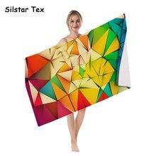 Silstar Tex Fashion Summer Surf Robe Towel  Microfiber Beach Towels Soft Gym Sport Swimming Pool Cover-Up Mat