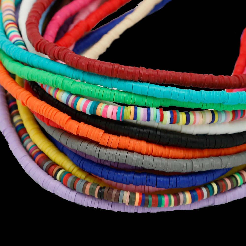 400 cái/lốc Polymer Clay Fimo Chip Đĩa Loose Spacer Hạt cho Trang Sức Làm Bracelet Phát Hiện DIY 3 mét 4 mét 5 mét 6 mét Vòng