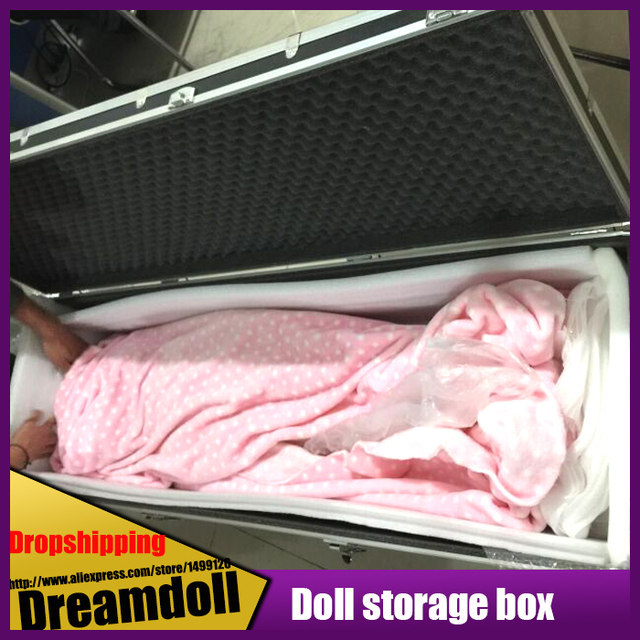 165cm With Wheel Shock Solid Silicone Doll Special Collection Of Boxes,  Portable Travel Doll Carrying