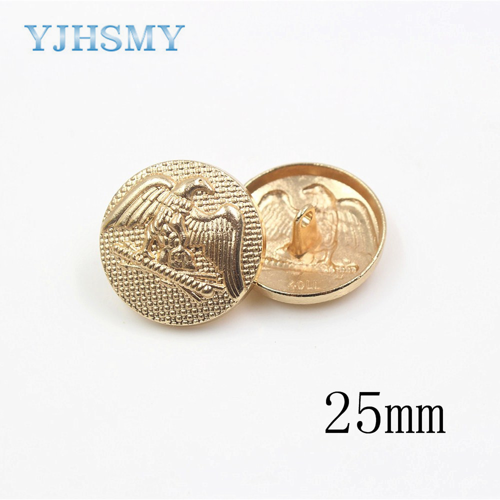 YJHSMY 1711041,10 pcs 25MM classic metal buttons , clothing accessories, DIY craft materials, craft sewing accessories button.