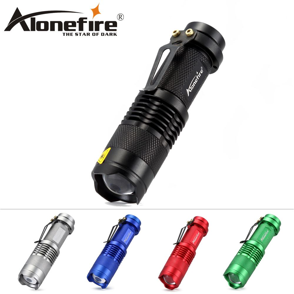 AloneFire SK68 Lights Portable Mini LED Flashlight Torch CREE Flash Light 2000LM Work Hunting Lamp use AA or 14500 Battery