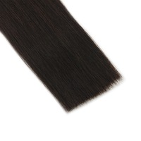 Full Shine Ponytail Extensions Straight Natural Black 100g Color 1B 100 Remy Human Hair Ponytail With