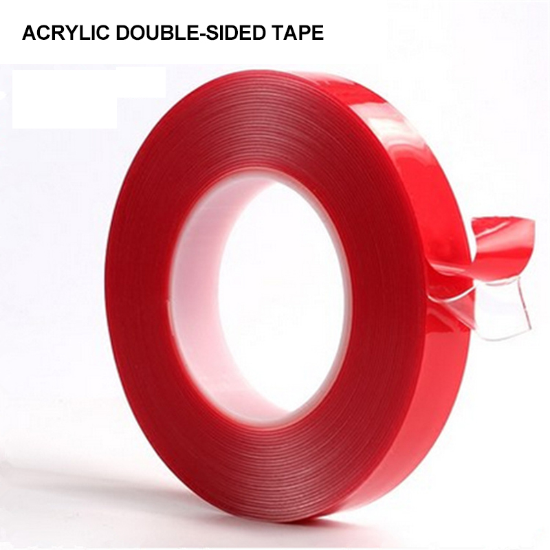 Acrylic Transparent Silicone Double Sided Tape Auto Car Sticker Strong Ultra-thin High Strength No Traces Adhesive Stickers