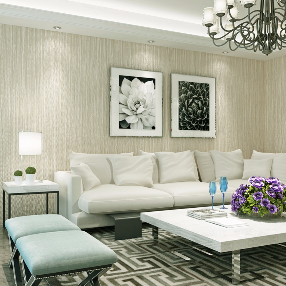 Wood White Retro Texture Floor Decoration