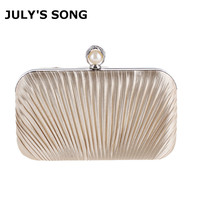 Elegant Hard Box Clutch Silk Satin Champagne Evening Bags For Matching Shoes And Womens Wedding Prom