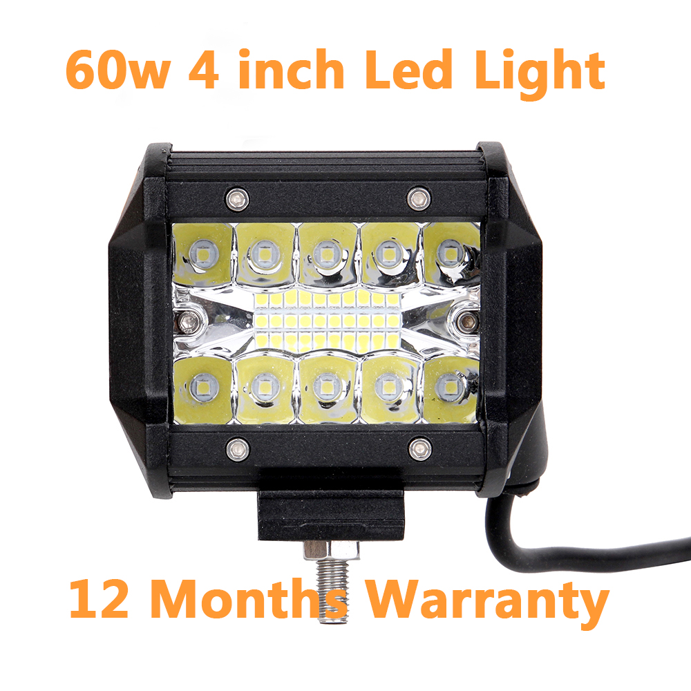 ECAHAYAKU 18W 27W 36W 60W 4 inch off road Led work light driving bar for Offroad 4x4 4WD vas SUV ATV Truck Jeep motorcycle