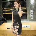 Free Shipping China Qipao Traditional Chinese Dress Women's Clothing Cheong-sam Dress Elastic Cotton Woman Dress