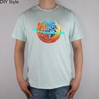 Anelli Di Saturno Firefox Logo t-shirt Top Lycra Cotone Maglietta Degli Uomini