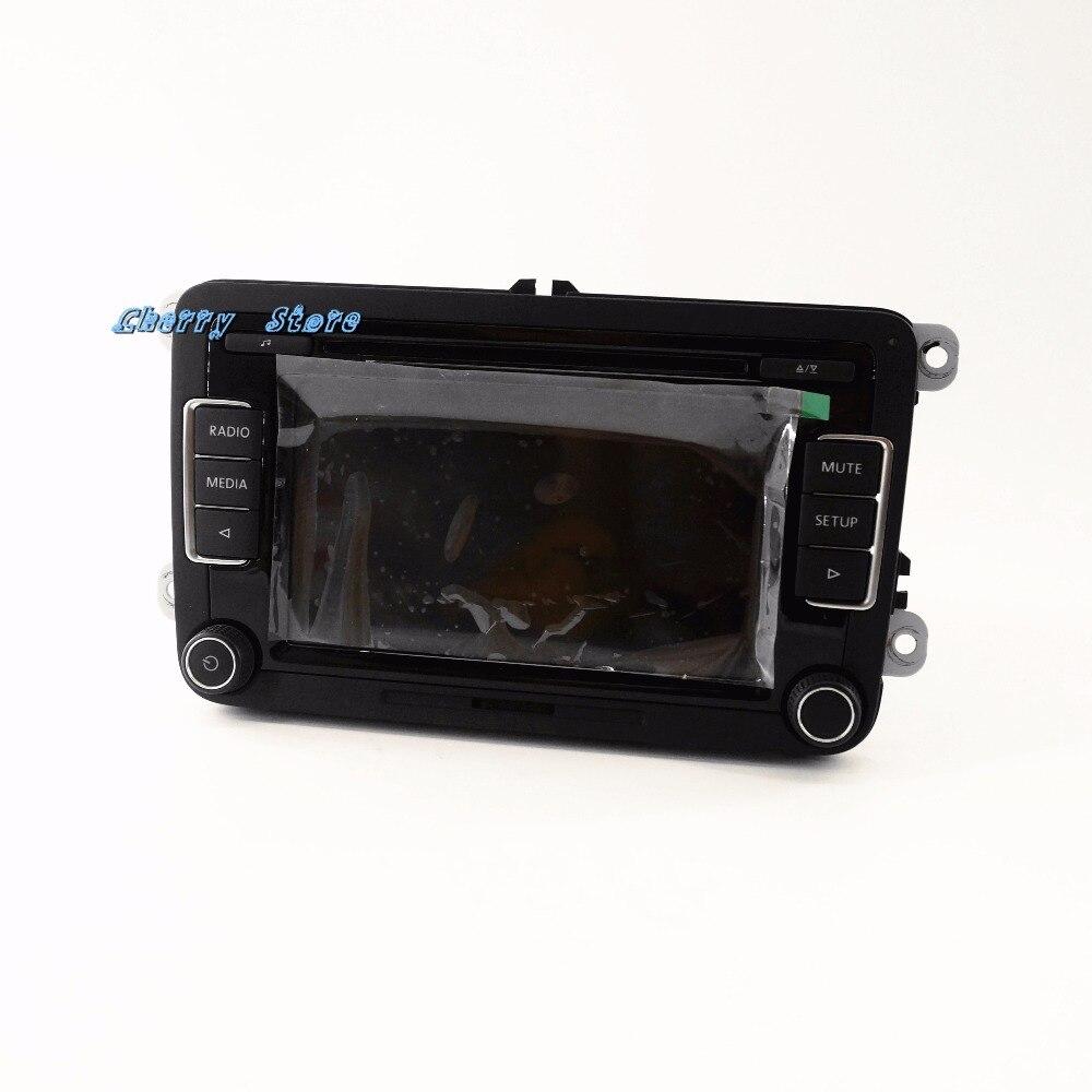 Novo rcd510 mp3 carro rádio usb 56d 035 190 a + 9w2 módulo bluetooth arnês para vw golf jetta tiguan rcd 510 1k8 035 730d - 5