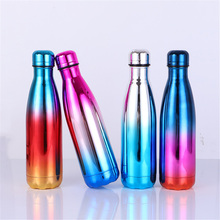 Colorful Vacuum Insulated Double Wall Stainless Steel Water Bottle Durable Leak-proof Fashion Outdoors Thermos