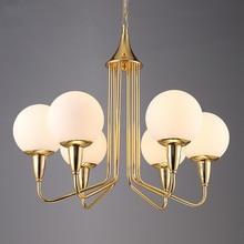 Modern light Luxury Glass Pendant Lights Fixtures Lustre Gold Dining Room Led E27 Lamp Lighting Luminaria fixtures Avize