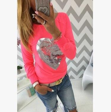 2017 t shirt women kawaii camisas tee shirt femme top ropa mujer tumblr female fashion heart