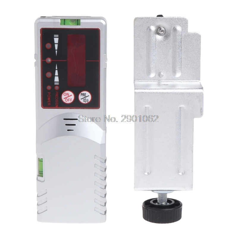 Level Laser Detector Red Beam Light 635nm Cross Line Outdoor Receiver with Clamp #0327# цены