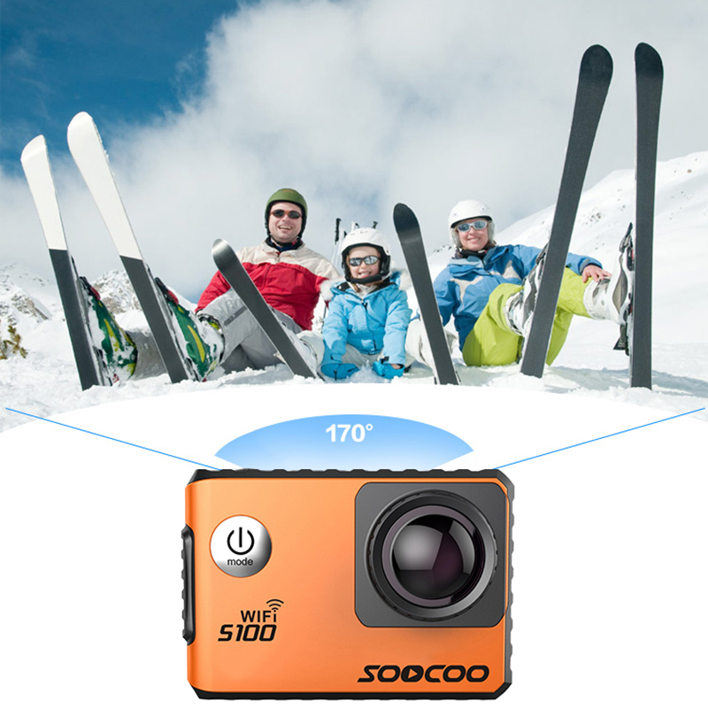 SOOCOO S100 4K WIFI Action Camera UHD Waterproof DV Camcorder 2.0' Screen Gyro 12MP 30m Diving Outdoor Sport Camera Mini Cam soocoo s100 pro 4k wifi action video camera 2 0 touch screen voice control remote gyro waterproof 30m 1080p full hd sport dv