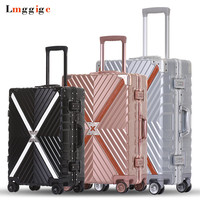 Aluminum frame Rolling Luggage Suitcase Bag,Multiwheel Trolley Case,Spinner Nniversal wheel Carry On,Hardside Travel box Drag