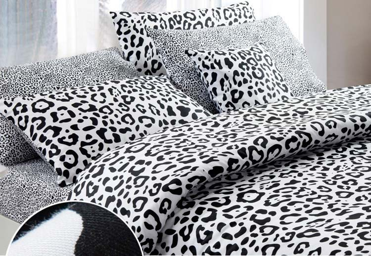 Black And White Brief Style Modern Sexy Leopard Print 100