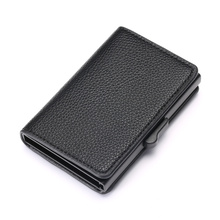 ZOVYVOL 2019 New Leather Slim Card Case Dropshipping Business Holder RFID Blocking Wallet Aluminum Box Fashion Soft
