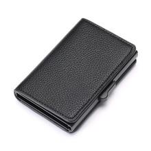 ZOVYVOL 2019 New Leather Slim Card Case Dropshipping Business Card Holder RFID Blocking Card Wallet Aluminum Box Fashion Soft