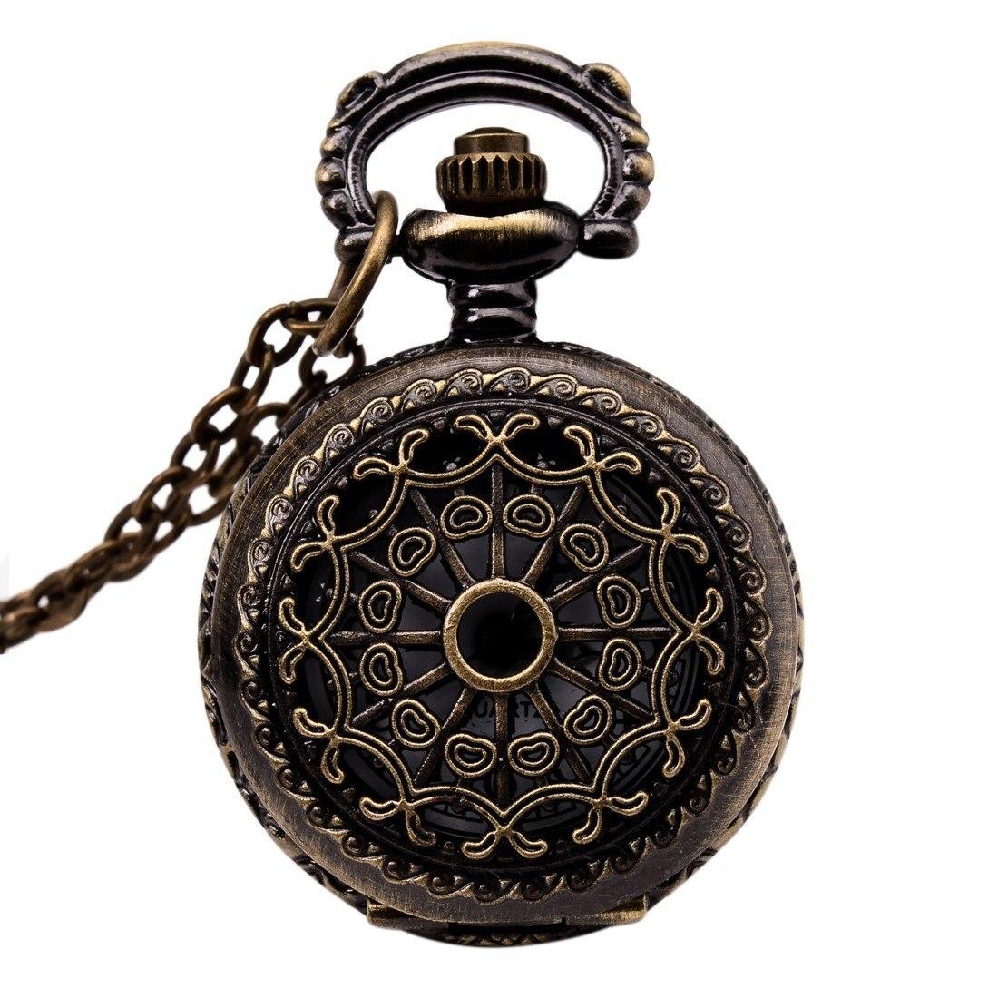 Uhren Vintage Bronze 31,5 kette Antike Taschenuhr Mode Geschenk-cobweb 100% Garantie Uhren