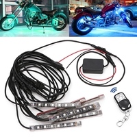 8 Pcs 5050 SMD Strip Flexible RGB Flashing Light LED Remote Control Motorcycle Luminary