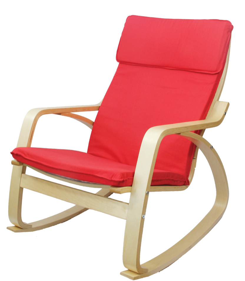 Us 129 0 Comfortable Relax Rocking Chair Gliders Lounger Cotton Fabric Cushion Seat Living Room Furniture Modern Adult Rocking Chair Wood In Living
