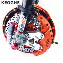 Best price Keoghs Motorcycle Refit Brake Caliper 4 Piston Cnc Aluminum Alloy Personality Modification For Honda Yamaha Kawasaki Suzuki