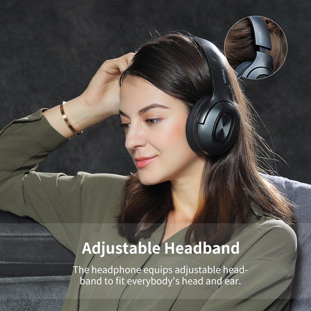 Image 5 - Dacom HF002 Headphones Bluetooth Earphone Wireless Headphone Over Ear Headset 5.0 Head Set Phones with Mic For Phones Computer-in Phone Earphones & Headphones from Consumer Electronics