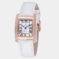 New Women Watches Brand WWOOR Quartz Ladies Watch Women 2017 Leather Clock Waterproof Female Wristwatches Square