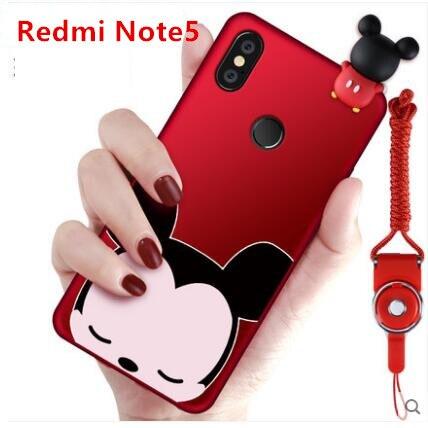 Xiaomi redmi note 5 pro cas de silicium De Mode de luxe série de lapin anti-drop protection cas de couverture arrière pour xiaomi redmi note 5