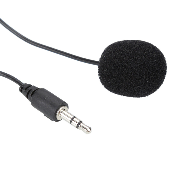 For Phone  Handsfree Wired Condenser Mic For teaching Speeching Min External Clip-on Lapel Lavalier Microphone 3.5mm Jack