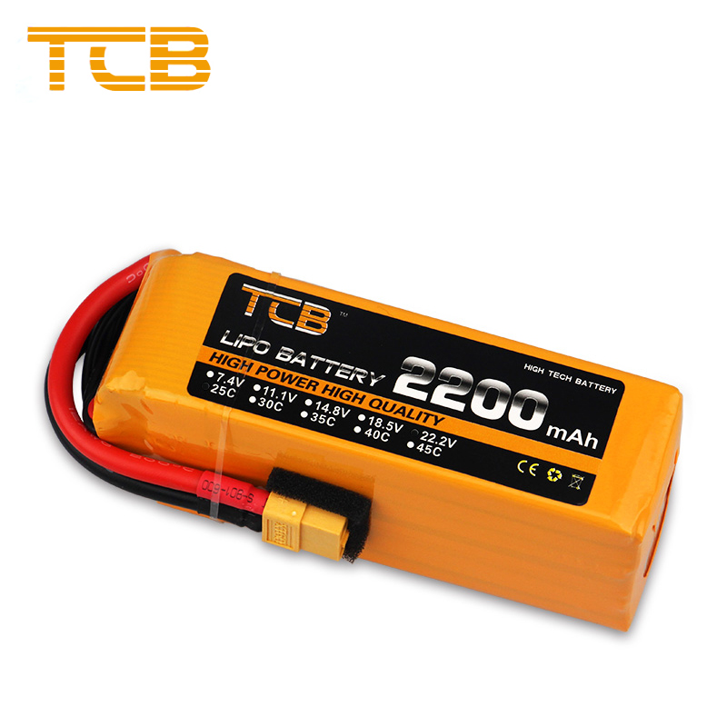 TCB RC <font><b>Lipo</b></font> Battery <font><b>6S</b></font> 22.2V <font><b>2200mAh</b></font> 25C 35C For Drone RC Helicopter Airplane Quadrotor Car FPV High Rate RC Battery <font><b>LiPo</b></font> image