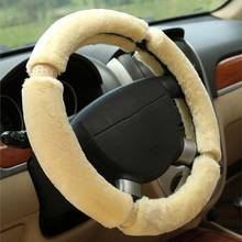 Winter Plush car steering wheel cover sets for mitsubishi asx colt l200 lancer 10 lancer x outlander 3 pajero sport
