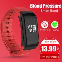 Blood Pressure Monitor Smart Band F1 Smart Watch Fitness Tracker Activity Wristband Heart Rate Monitor Pedometer