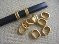 20pcs Antique Gold Dots Sliders Spacer Beads 11.5x8mm For Licorice Leather Bracelet Cord Jewelry Accessories