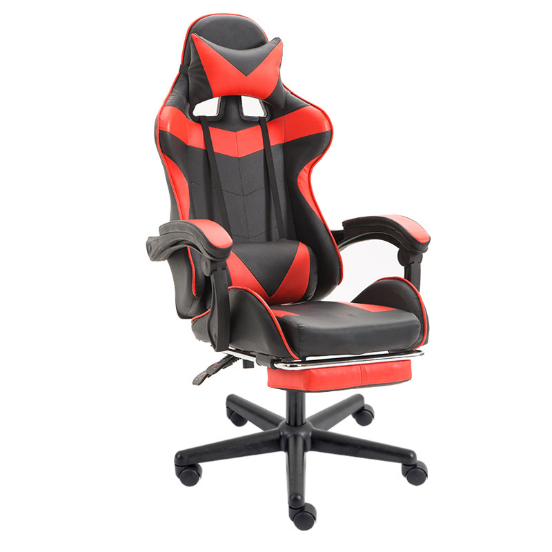 Luxury Quality Live Gaming Silla Gamer Synthetic Leather Colorful Chair Can Lie Wheel Ergonomics With Footrest Office Furniture