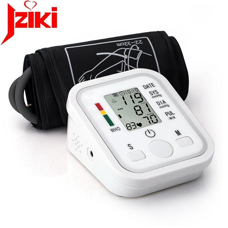 JZIKI Digitale Oberarm-blutdruckmessgerät Puls Monitore tonometer Tragbare gesundheit bp Blutdruckmessgerät meter blutdruckmessgerät