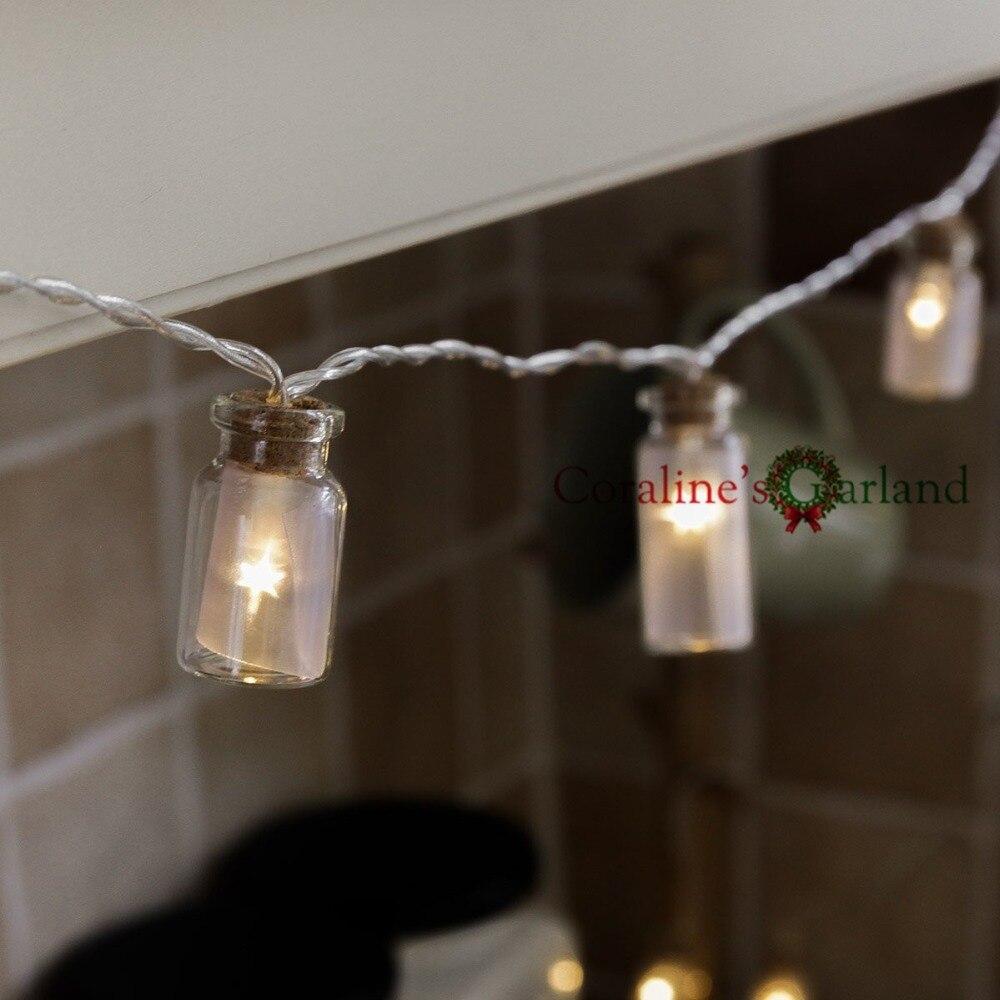 Novelty Glass Jar Led String Lights With 20 Led Lights