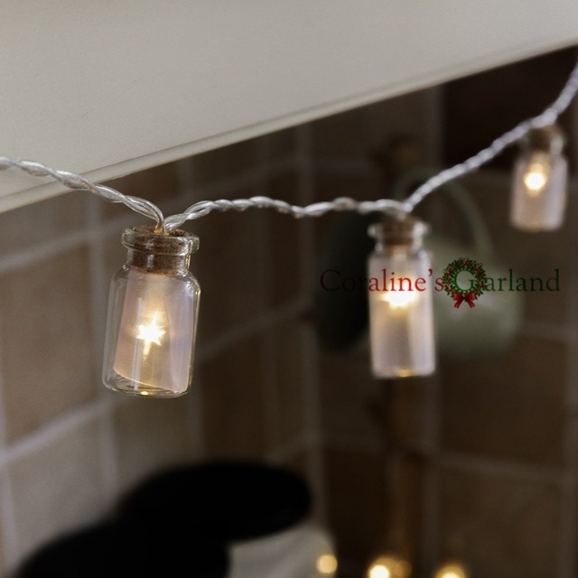 Novelty Gl Jar Led String Lights With 20 Battery Operated For Wedding Party Fairy Christmas Decoration