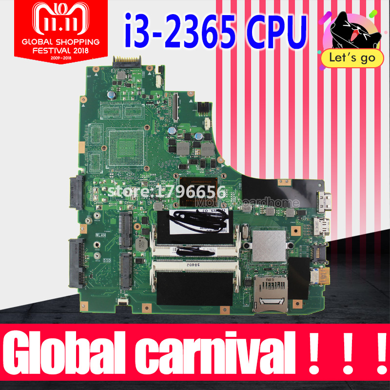K46CM Motherboard With REV 2.0 i3 cpu For Asus K46CA K46CM S46C A46C K46C Laptop Motherboard K46CA Mainboard 100% Fully Tested стоимость