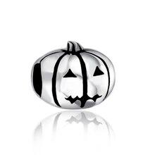 Pumpkin Holiday 925 Sterling Silver Charm Bead Fit European Pandora Charms Bracelet