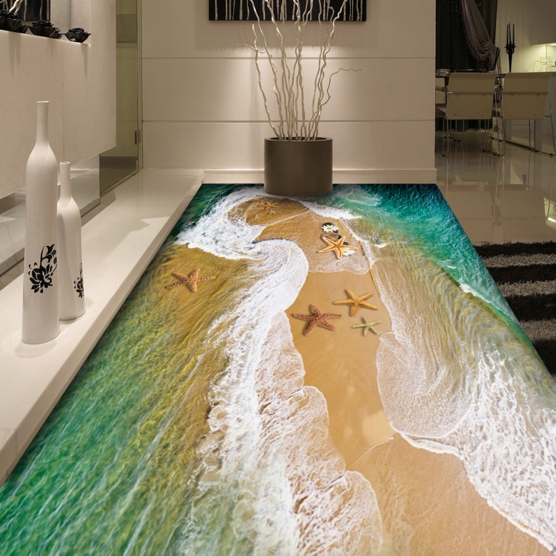 Free Shipping Custom Sea water 3D floor mural living room aquarium hotel bedroom decoration floor wallpaper free shipping 3d rockery pool plant floral bedroom living room toilet hotel restaurant floor painting wallpaper mural