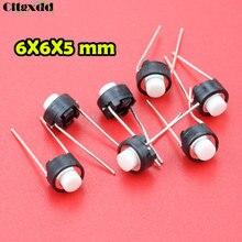 Cltgxdd 1 шт. сенсорная кнопка переключения 6*6*5 мм DIP 6X6X5 мм тактильная тактовая Кнопка Микропереключатель Мгновенный для ALPS белая головка, оптом