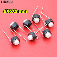 цена на cltgxdd 1pcs Touch switch button 6*6*5mm DIP 6X6X5 mm Tactile Tact Push Button Micro Switch Momentary for ALPS white head , bulk